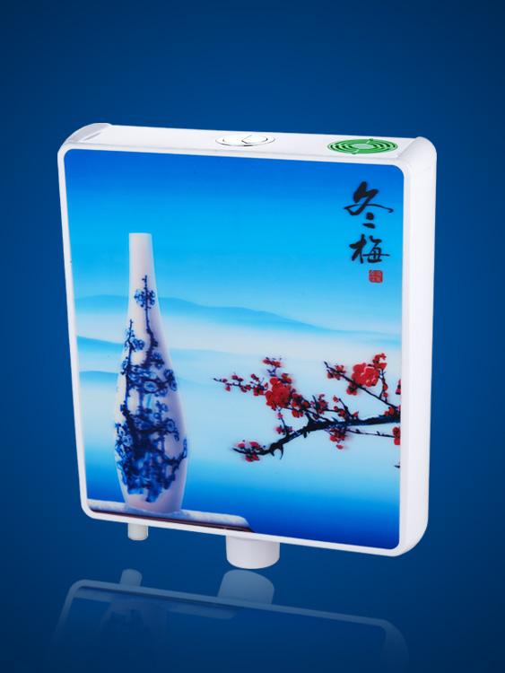 蹲便器水箱3D冬梅 DS036
