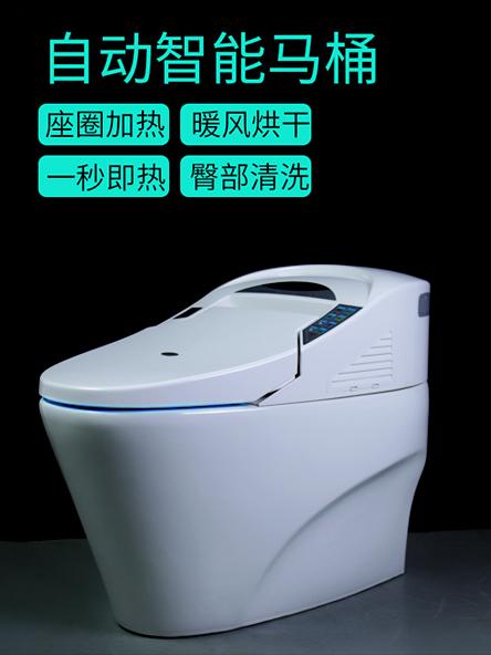 智能马桶家用坐便器即热式自动坐便器一体式智能马桶